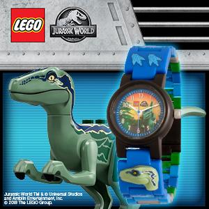 Lego jurassic world blue watch