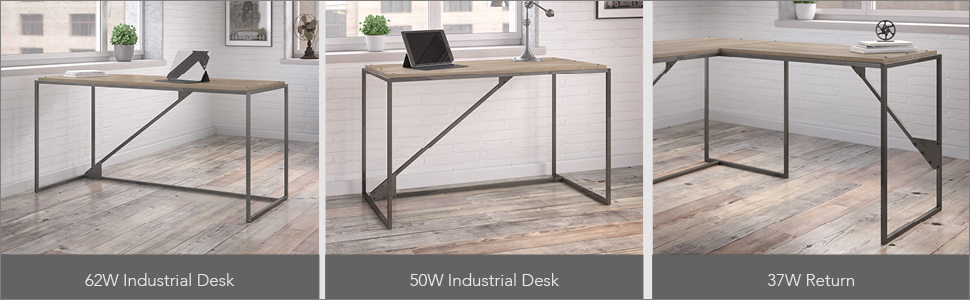 bush furniture,refinery,rustic gray,writting desk,computer desk,bookcase,file cabinet,chair