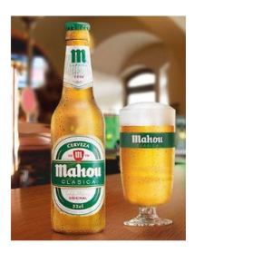 Mahou Clásica - Botella Cerveza Dorada Lager, 4.8% de Volumen de ...