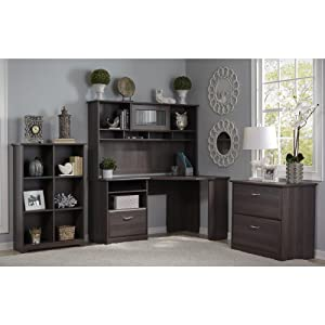 Bush Furniture, Cabot Collection, Office Furniture, Home Office, Desk, Hutch ,