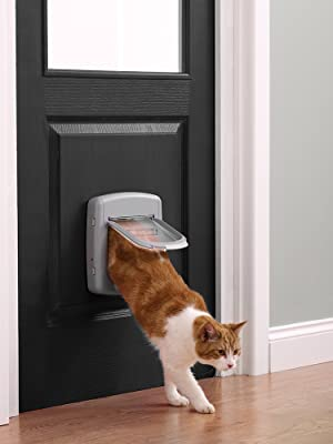 Petsafe Staywell Manual 4 Way Locking Deluxe Cat Flap Grey