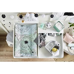 Rotho Babydesign Cambiador de cuña acolchado, Moderno cuadrado, 70x50x9,8cm, Blanco, 204440001CH: Amazon.es: Bebé