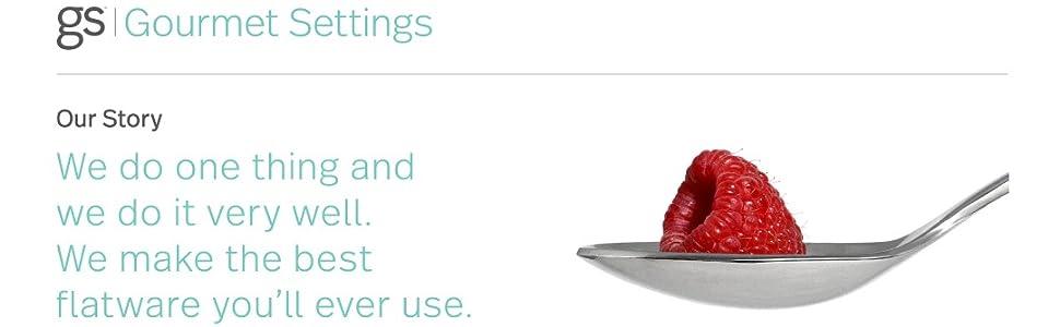 flatware silverware silver ware cutlery utensils dinnerware stainless teel gourmet settings set 4 6