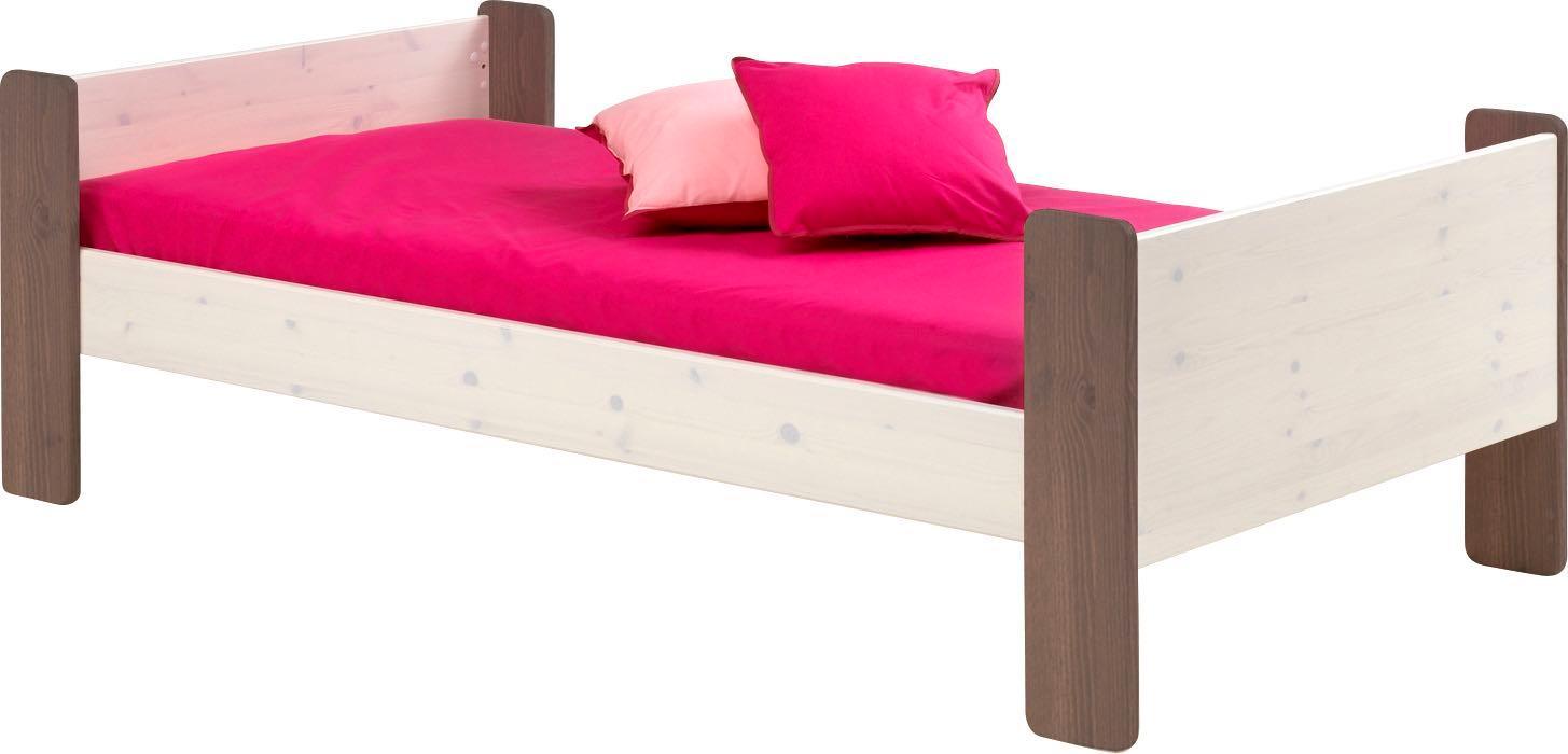 steens f r kinder etagenbett inkl lattenrost teilbar mdf 90x200 cm wei lackiert amazon. Black Bedroom Furniture Sets. Home Design Ideas