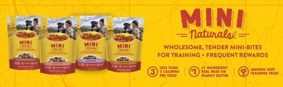 Mini Naturals - Wholesome, tender mini-bites for training + frequent rewards