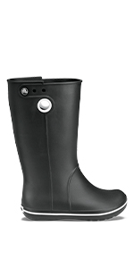 Amazon.com | Crocs Womens Crocband Jaunt Rain Boot | Mid-Calf