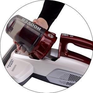Hoover Ultra Vortex MBC500UV - Aspirador de colchones y sofas, con lampara UV para eliminación bacterias, especial alergias, color blanco y rubi