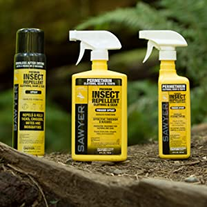 sawyer insect repellent permethrin picaridin deet