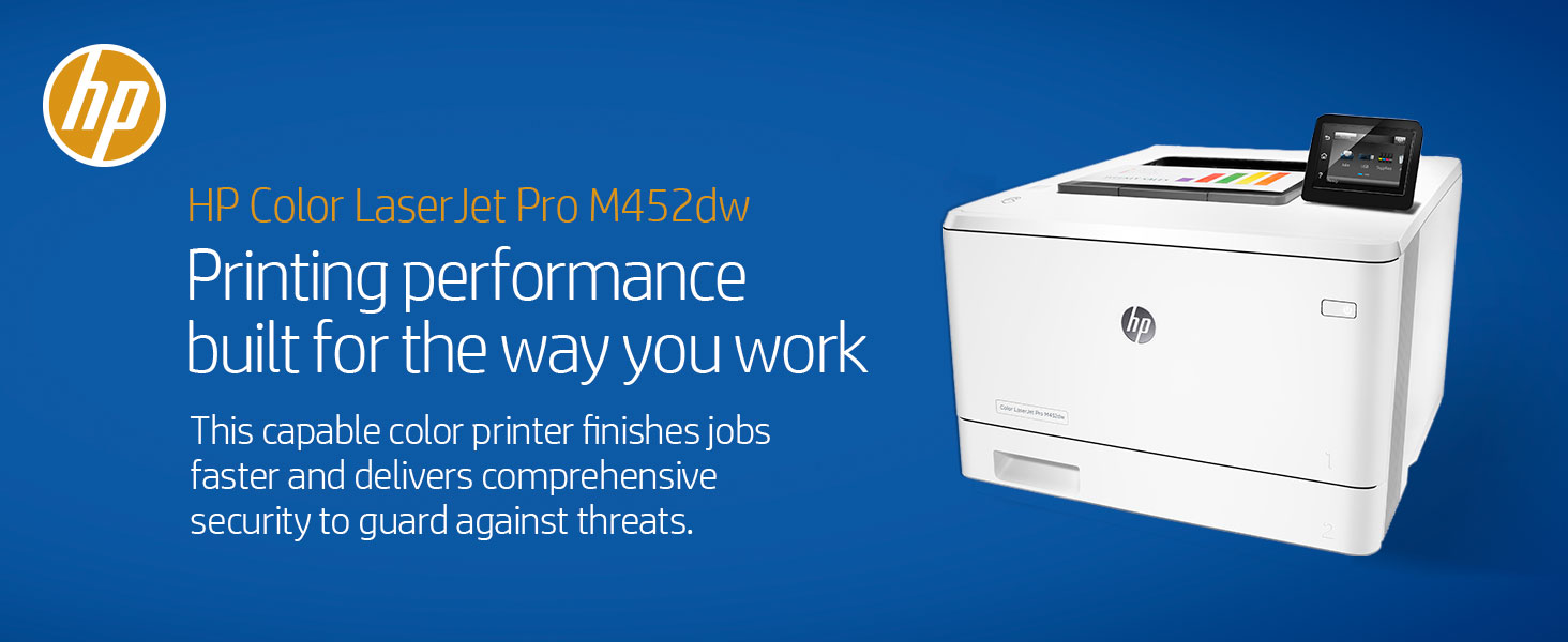 Amazon hp laserjet pro m452dw wireless color printer cf394a business office color laser printer professional productive productivity fast faster security fandeluxe Image collections