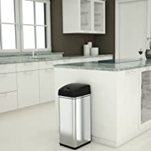 Touchless sensor automatic infrared simple stainless steel best office garbage can trash bin