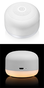 Compact, nightlight, amber, rechargeable, white noise, travel, battery