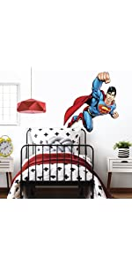 superman peel and stick wall decals, peel and stick wall decals