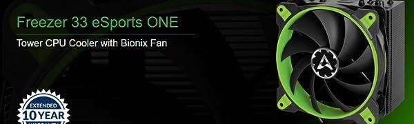 Arctic Freezer 33 eSports ONE, Dissipatore per CPU - Green Edition