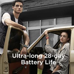 Ultra-Long 28-Day Battery Life