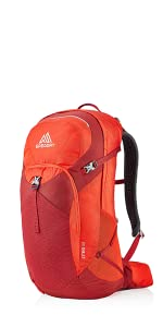 Gregory Mountain Products Mens Citro 36 Hiking Backpack,VIVID RED
