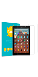 Kindle Fire hd 10 case 2019 7th generation screen protector leather cover