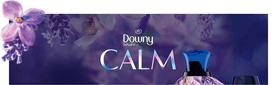 downy infusions calm scent, floral scent, fabric softener, washing machine, washer, soft clothes