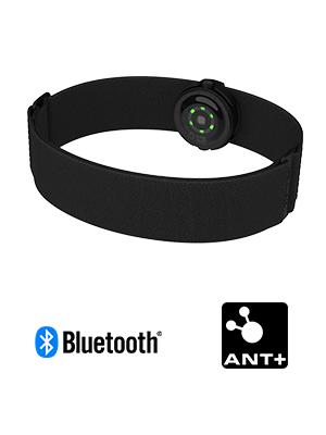 Polar OH1+ Bluetooth y ANT+. Sensor de pulso óptico resistente al agua con clip para gafas de natación y brazalete - Negro