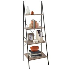 Ladder Shelf, Angled Shelf, Industrial Shelf, Modern Shelf, Standing Shelf,  Mixed