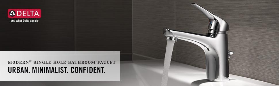 Delta Faucet 534LF-PP Modern Single Handle Lavatory Faucet, Chrome ...