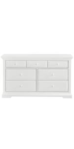 double dresser, drawer, storage, evolur, dream on me, parker