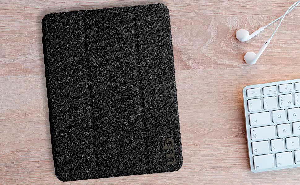 Capa iPad WB 7a Geração Polegadas Estilo Tecido Cinza
