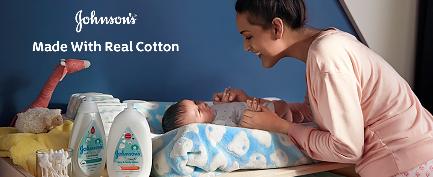 Johnson's Baby - Made with real cotton
