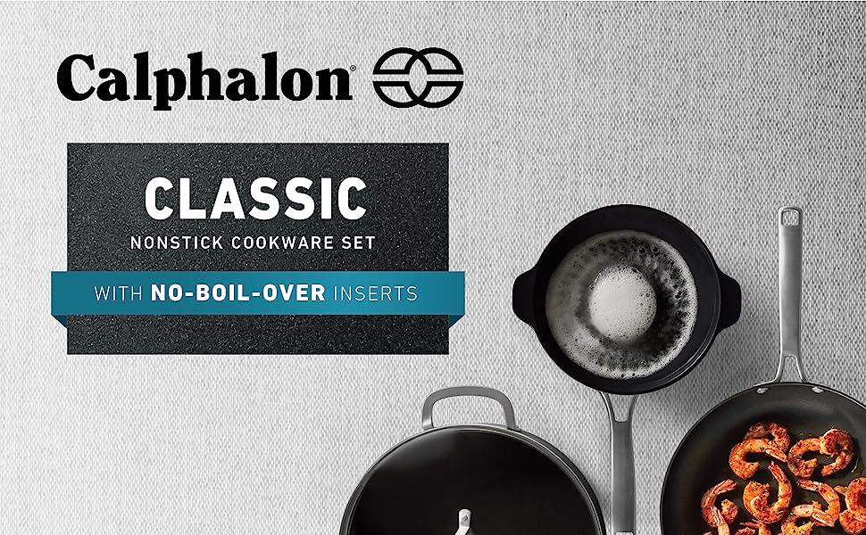 Calphalon Classic 10-pc Set, No-Boil-Over Inserts