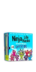 ninja life hacks growth mindset boo box set gritty ninja greedy ninja anxious ninja shy ninja