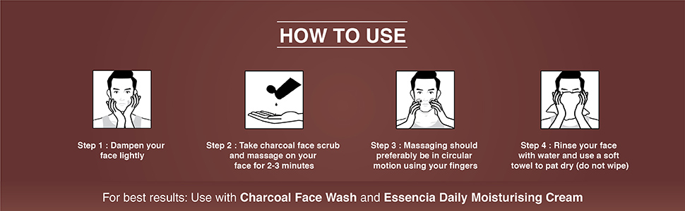 Charcoal Face scrub for men, face scrub for men, skinbrightening face scrub,blackheads removal scrub