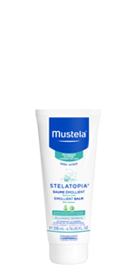Stelatopia Emollient Balm is a moisturizing balm for your baby's eczema-prone skin. Fragrance free.