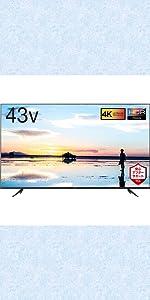 TCL テレビ 43型 43インチ 4Kテレビ TCL HDR