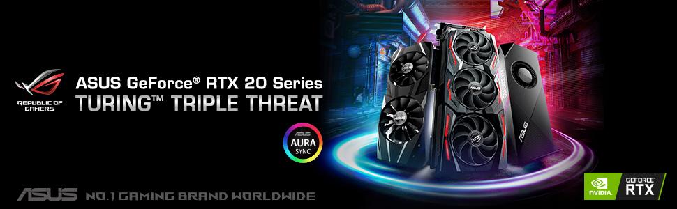 ASUS, ROG, RTX, GeForce, 2080, Aura Sync