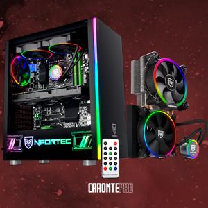 Nfortec Torre Gaming RGB caronte con Panel Lateral Full View de Cristal Templado y Ventilador Trasero de 120mm Incluido.: Amazon.es: Informática