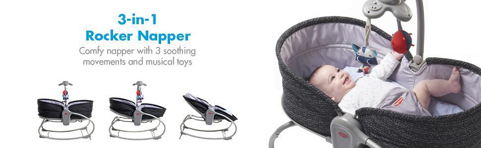 7cd3afda2 Amazon.com   Tiny Love 3-in-1 Rocker Napper (Luxe Black)   Baby