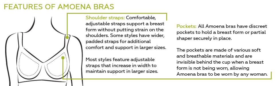 Features of Amoena Mastectomy Bras
