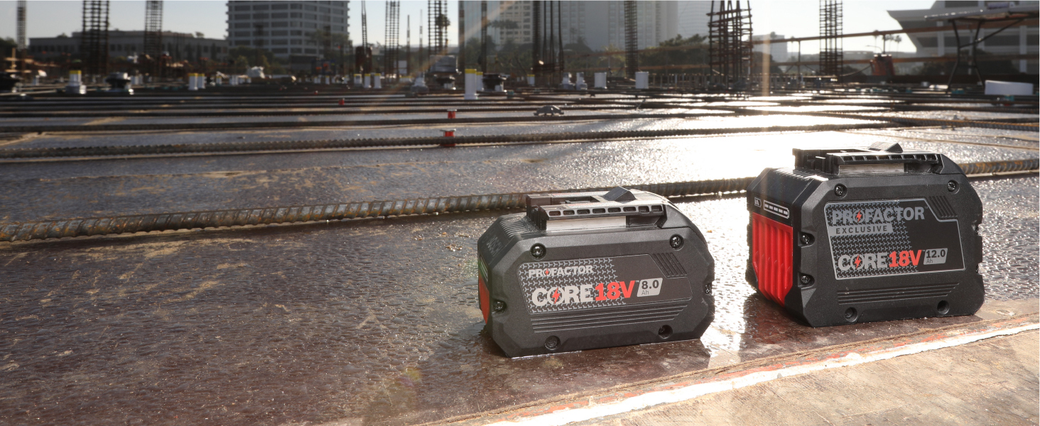 Powered by CORE18V PROFACTOR Batteries