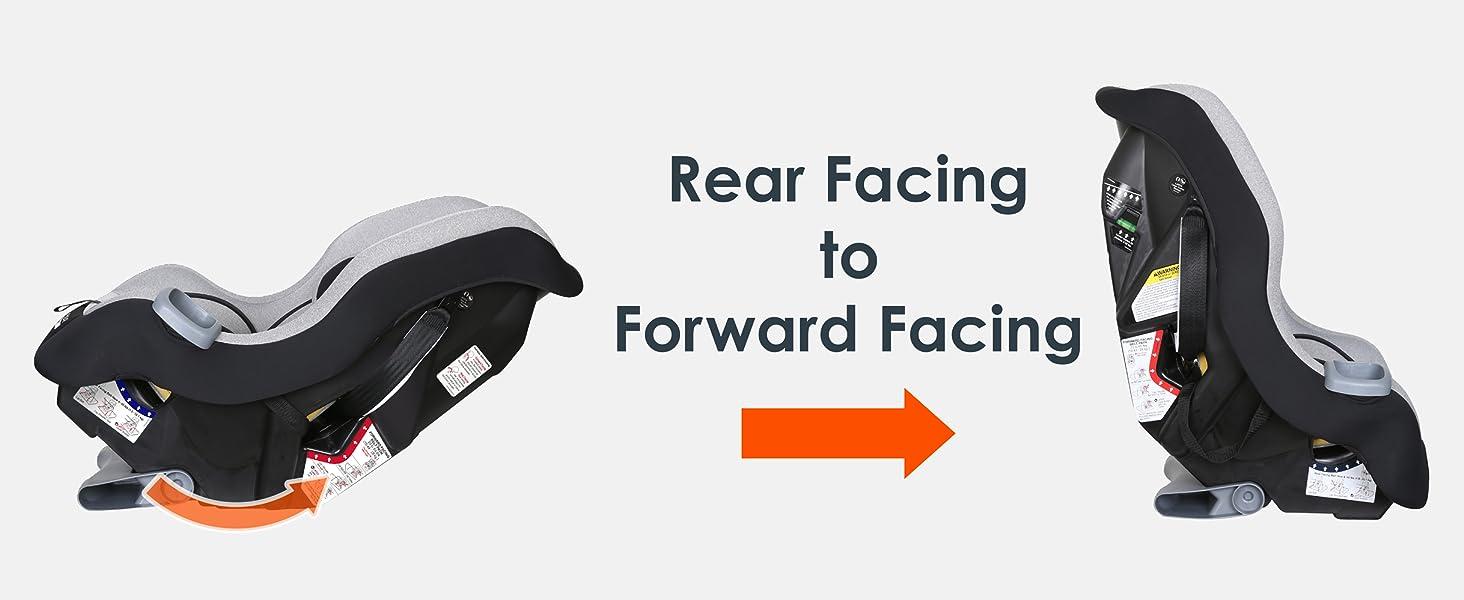 Baby Trend convertible car seat rear facing to forward facing
