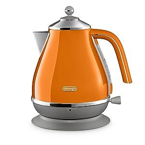 orange kettle delonghi