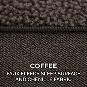 sleep; surface; faux; sherpa; fleece; chenille; coffee; espresso; chocolate; brown; mud