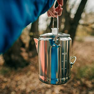 camping coffee percolator backpacking