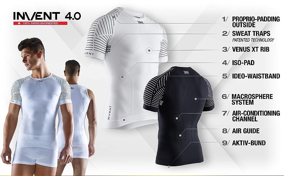 X-Bionic M//C Invent Round Neck Camiseta Hombre