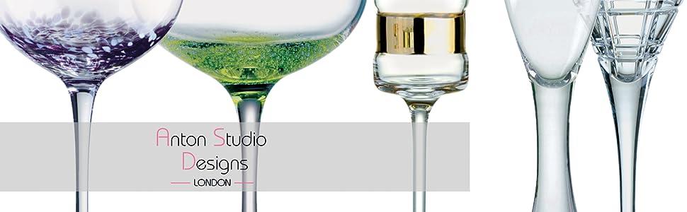 1569b993f Anton Studio Designs ASD10260 Fizz Wine Glasses, 600 milliliters