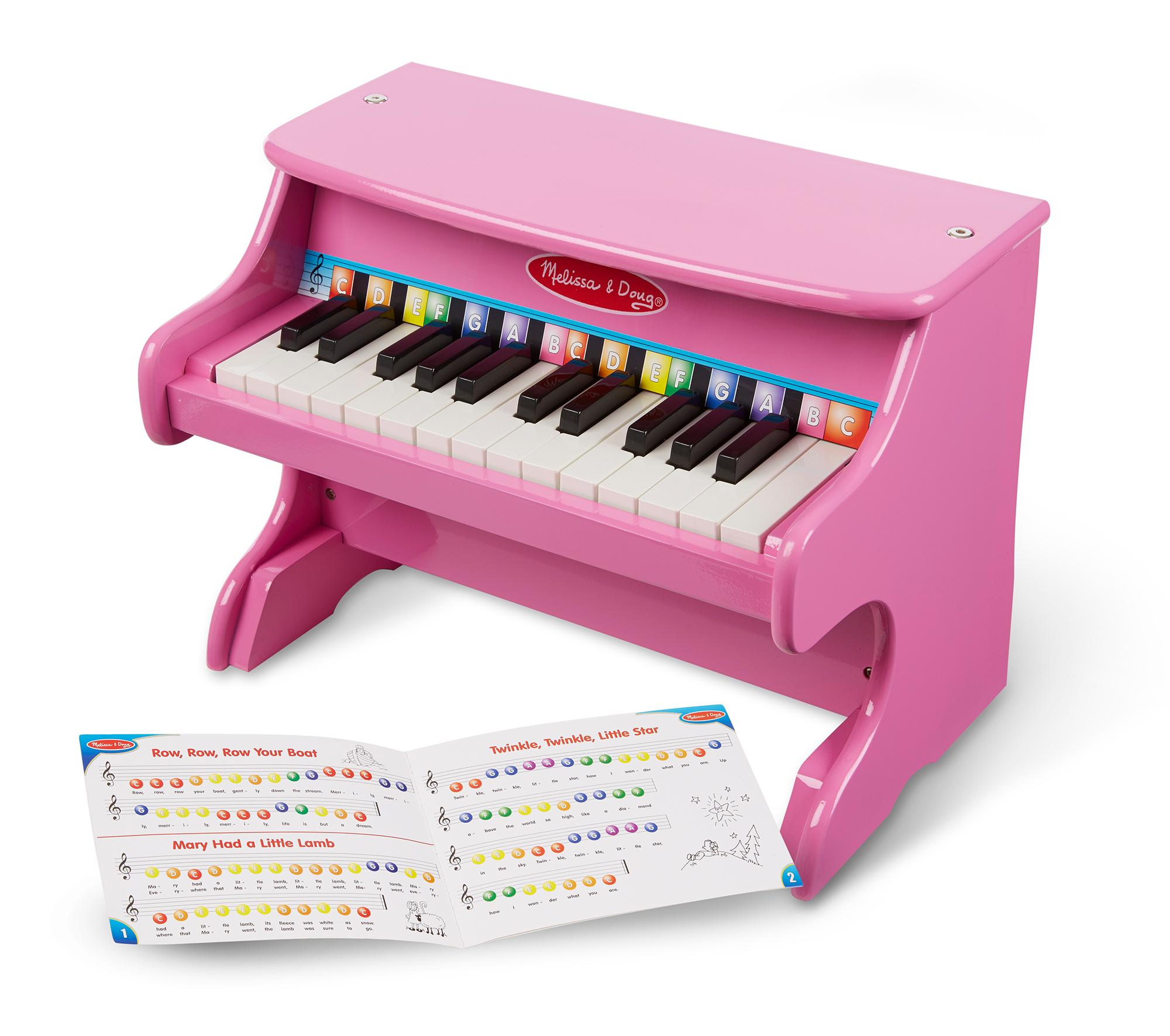 Amazon Com Melissa Amp Doug Learn To Play Pink Piano With