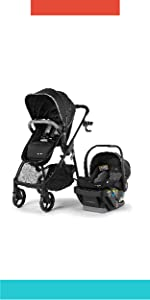 Myria Modular Travel System with the Affirm 335 Rear-Facing Infant Car Seat