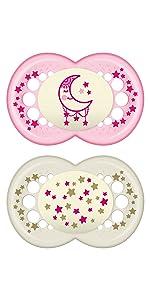 Amazon.com: MAM Perfect 2 piezas Baby Pacifier, Niña: Baby
