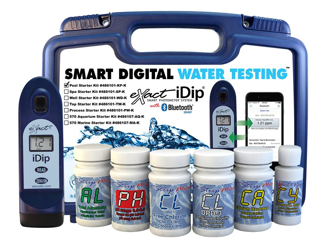 Exact idip photometer 486101 kp k pool starter kit with meter industrial scientific for Swimming pool test kits amazon