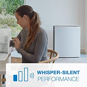 Do you work from home or have young children napping? A Blueair purifier is whisper silent.