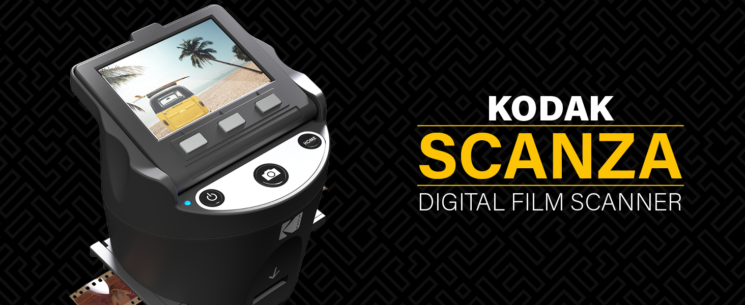 Kodak Scanza Digital film scanner negative old save scan instant sd card upload