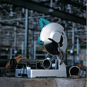 LC1230 miters metals pipe construction jobsite sparks grinder metalworking working steel materials
